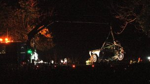 Car removed from crash scene