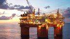 Atlantis oil rig in Gulf of Mexico