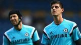 Thibaut Courtois and Petr Cech