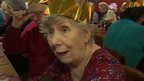 Betty Williams at her Christmas lunch in Ottery St Mary