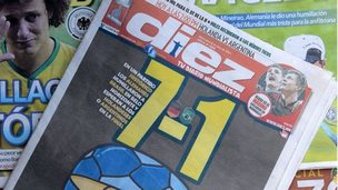Brazil defeat newspapers