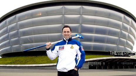 Scotland skip David Murdoch at the SSE Hydro - venue for the 2020 World Men's Championship