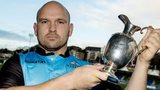 Glasgow Warriors' Dougie Hall poses with the 1872 Cup