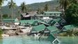 A file picture dated 29 December 2004 shows destroyed holiday bungalows on Phi Phi island, Thailand