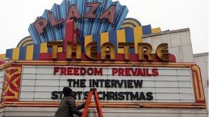 Sign at the Plaza Theatre in Atlanta, 23 December