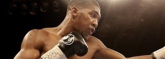 Anthony Joshua in action with Michael Sprott at Liverpool Echo Arena