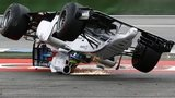 Felipe Massa crashes out of the 2014 German Grand Prix