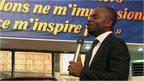 Pastor Athom Mboma preaching