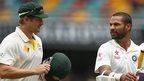 Australia's Shane Watson and India's Shikhar Dhawan