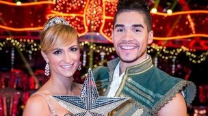 Louis Smith and Aliona Vilani with the trophy