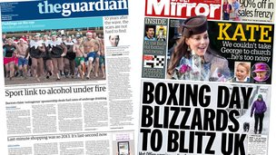 Guardian and Mirror front pages