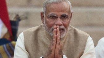 Narendra Modi sworn in as Indian PM (26 May 2014)
