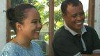 Rina and father Mustafa
