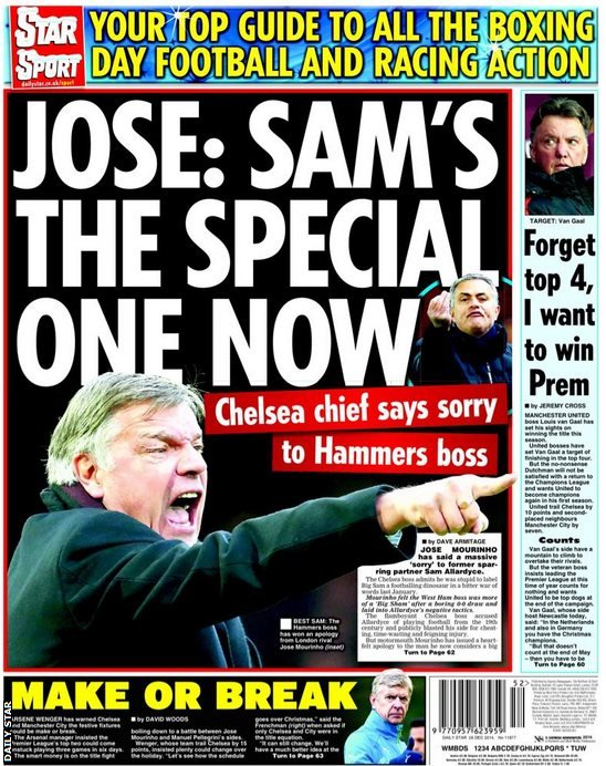 Friday's Daily Star back page