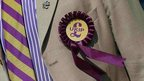 File photo of a supporter wearing a United Kingdom Independence Party (UKIP) badge