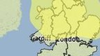 Met Office weather warning map