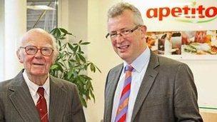 Dennis Gerrish, (left) with Apetito Chief Executive Paul Freeston