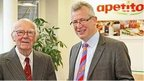 Dennis Gerrish, (left) with Apetito Chief Executive Paul Freeston