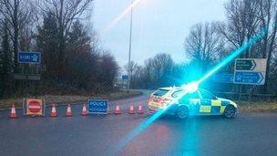A1(M) closed following crash 26 December 2014