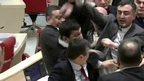 Brawl in parliament in Georgia