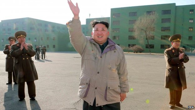 North Korean leader Kim Jong-un at military unit, 26 December 2014