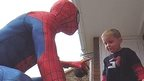 Spider-Man dad Michael Wilson and son Jayden