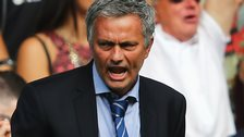 Chelsea manager Jose Mourinho celebrates a goal