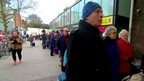 The queue for Finsbury Park station
