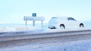 A car on the A537 to Buxton