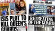Composite image showing Sunday Mirror and Mail on Sunday front pages