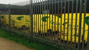 City Link vans at Taffs Well