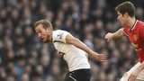Harry Kane is challenged by Paddy McNair