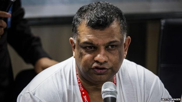 AirAsia CEO Tony Fernandes in Surabaya, 28 Dec