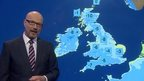 Peter Gibbs and UK weather map