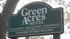 Green Acres Hotel sign