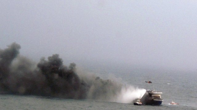 Fire forces Italy ferry evacuation...