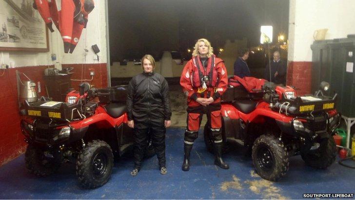 Lifeboat service quad bikes