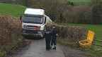 Tanker stuck on Tutton Hill, Colerne, Wiltshire