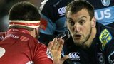 Sam Warburton takes on Emyr Phillips