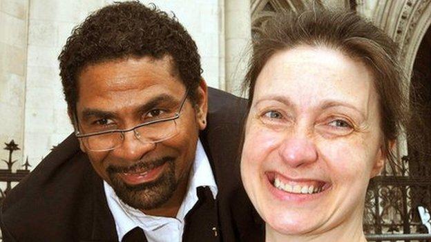 Debbie Purdy and husband Omar Puente