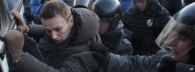 Alexei Navalny detained in December 2012
