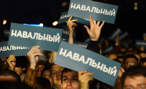 Navalny supporters in Sept 2013