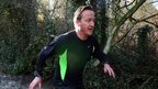 David Cameron at the annual Great Brook run in Chadlington