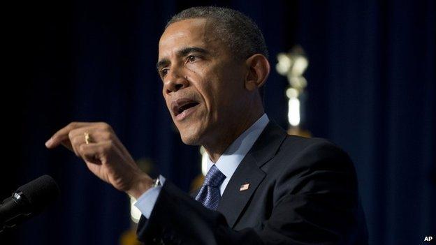 President Barack Obama speaks on Eric Garner 3 December 2014