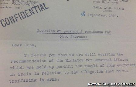 Skorzeny's residency issue was a matter of considerable debate