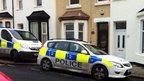 Police car on Rydal Avenue. Blackpool