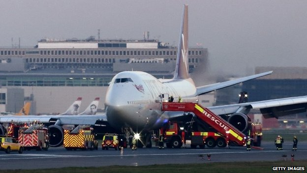 Virgin plane landed