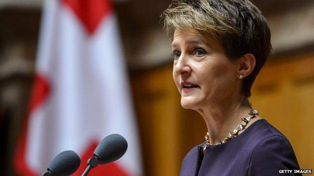 Simonetta Sommaruga, Switzerland's president for 2015
