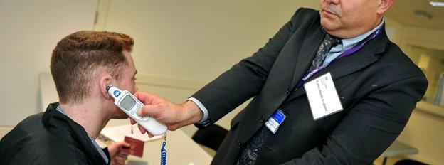 Ebola screening at Heathrow
