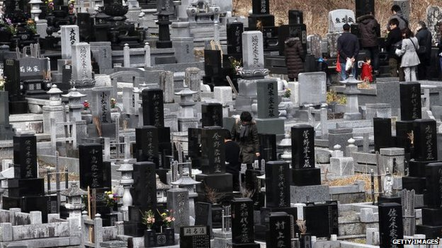 A Japanese graveyard